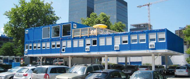 Containeranlage, Beispiel - Büro