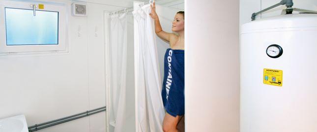 Sanitärcontainer innen - Dusche