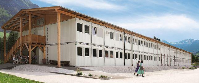 Containeranlage, Beispiel - Schule